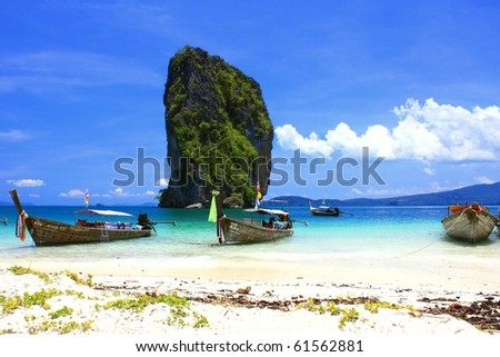 The island, Koh Poda, Thailand - stock photo