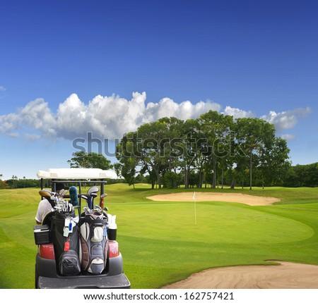 The island of Bali. Golf Courses - stock photo
