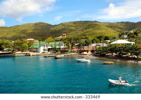 The island of Bequia - stock photo