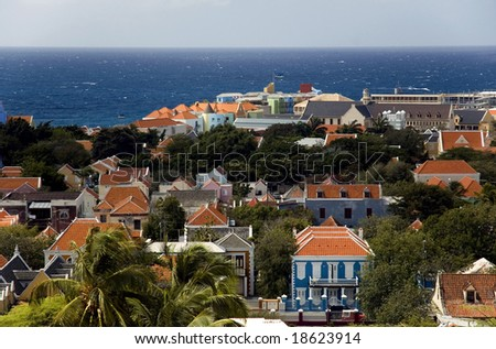 The Island of Curacao, Willemstad (Netherlands Antilles) - stock photo