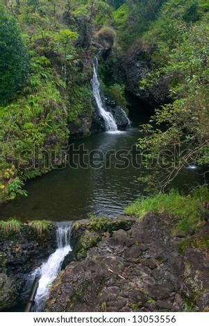 The island of Maui is the second-largest of the Hawaiian Islands - stock photo