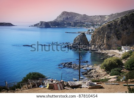 The island of Rhodes - stock photo