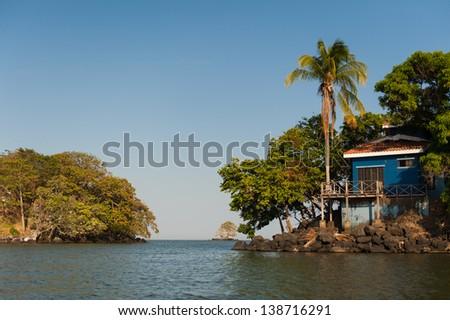 The island, or Isletas, of Lake Nicaragua near Granada, Nicaragua - stock photo