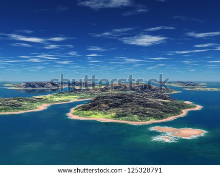 the islands - stock photo