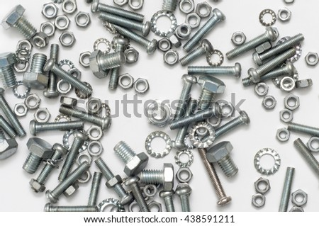 the isolated focus of nuts and bolts.