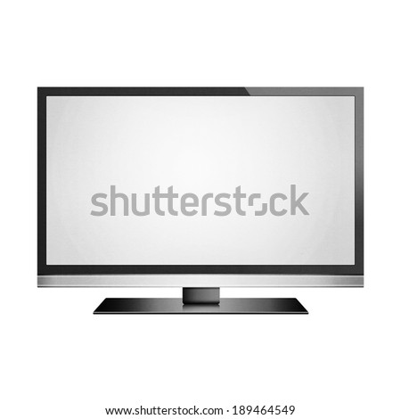 the isolated paper cut of smart tv with led flat screen is modern display technology for multimedia - stock photo