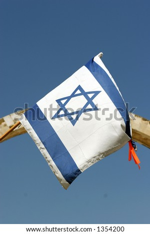 The Israeli flag - stock photo
