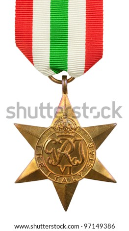The Italy Star Second World War Medal - stock photo