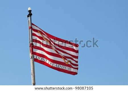 The jack of the United States is a maritime flag representing United States nationality flown on the jackstaff in the bow of its vessels - stock photo