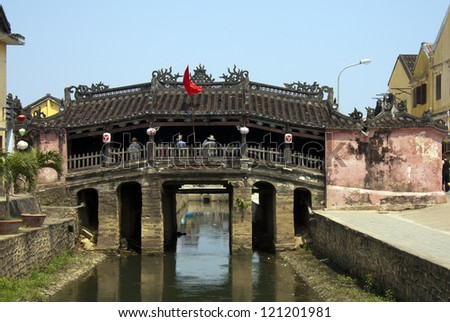 The Japanese Bridge, Hoi An, Vietnam - stock photo