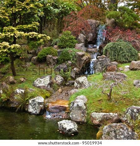 The Japanese Tea Garden in Golden Gate Park, San Francisco. - stock photo