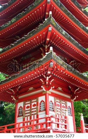 The Japanese Tea Garden in the Golden Gate Park, San Francisco. - stock photo