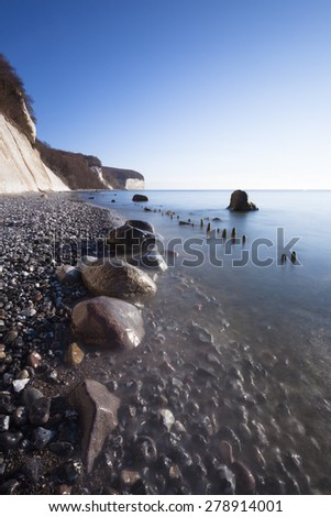 The Jasmund National Park is a nature reserve in the Jasmund peninsula, in the northeast of Rügen island - stock photo