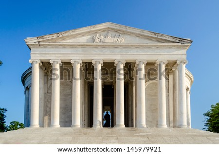 The Jefferson Memorial in Washington DC in daylight