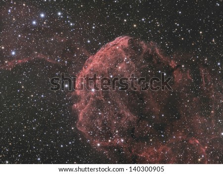 The Jellyfish Nebula (IC443) - A supernova remnant in the constellation Gemini