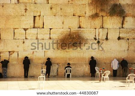 The Jerusalem wailing wall - stock photo
