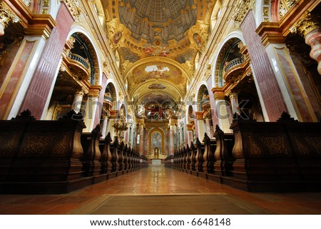 The Jesuit Church, Vienna - stock photo
