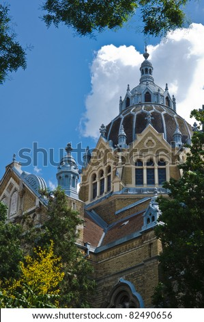 The Jewish synagogue of Szeged in Hungary - stock photo