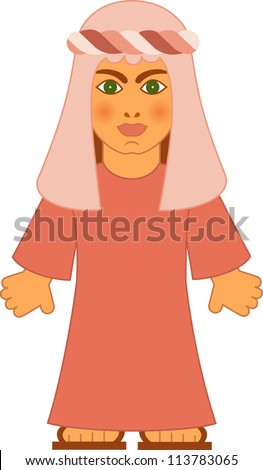 The jewish woman - the Leah from the biblical stories. - stock photo