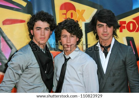 The Jonas Brothers at the 2007 Teen Choice Awards. Gibson Amphitheater, Universal City, CA. 08-26-07 - stock photo
