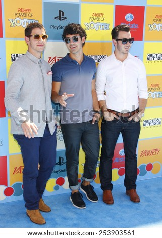 The Jonas Brothers at the Variety's 6th Annual Power Of Youth held at the Paramount Studios in Los Angeles, California, United States on September 15, 2012.