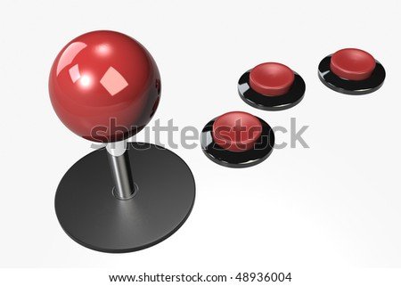 The Joystick - stock photo