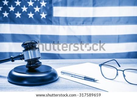 The judicial concept, dual tone - stock photo