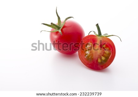the juice is made from fresh tomato - stock photo