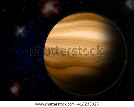 The Jupiter from space ( Illustration picture )
