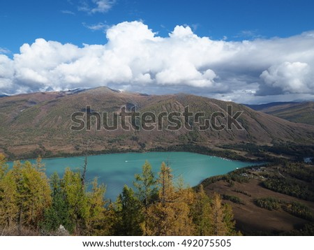 The Kanas lake located at north of Xinjiang, China