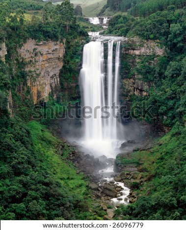 The Karkloof Falls in South Africa's Kwazulu-Natal Province. - stock photo