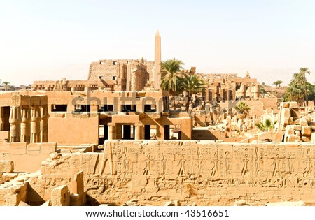 the Karnak temple complex, Egypt
