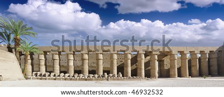 The Karnak Temple Complex. Luxor, Egypt - stock photo