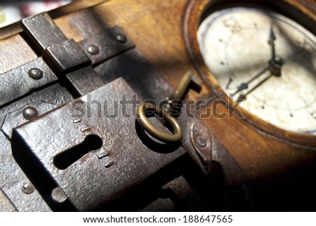 the key of the time. Conceptual image