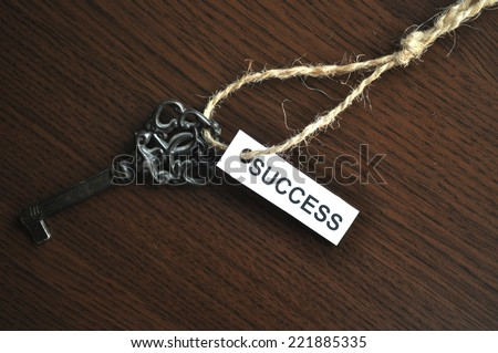 The key to succes - stock photo