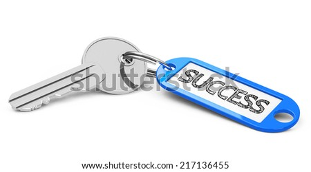the key to success - stock photo