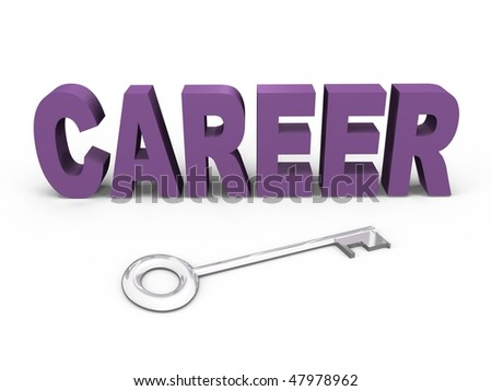 The key to your career - a 3d image - stock photo