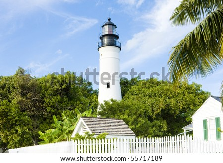 The Key West Lighthouse, Florida Keys, Florida, USA - stock photo