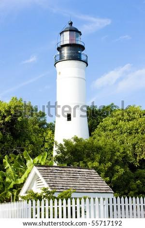 The Key West Lighthouse, Florida Keys, Florida, USA - stock photo