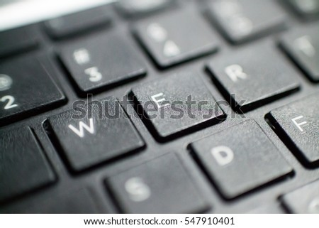The keyboard of the laptop. Laptop and notebook computers are mobile. You can move them anywhere with you. The keyboard is very quiet, you do not hear during tapping.