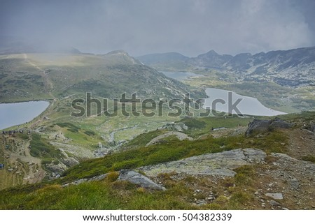 The Kidney, The Twin and The Trefoil lake, The Seven Rila Lakes, Bulgaria