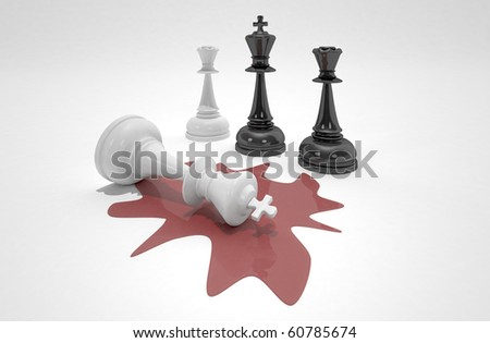 the king is dead - stock photo