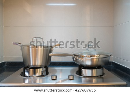 the kitchen with cooking tools