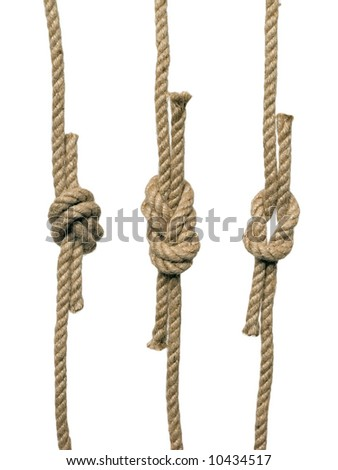 The knots on the white background (isolated). - stock photo