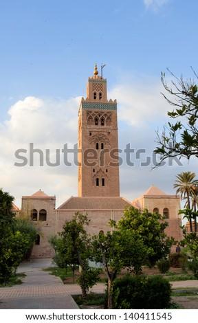 The Koutoubia mosque in Marrakesh - stock photo