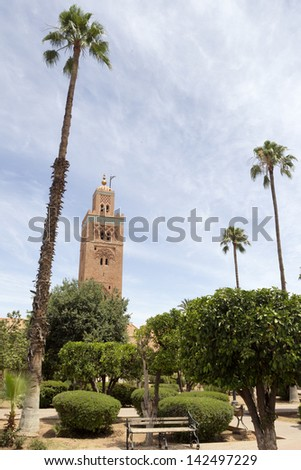 The Koutoubia mosque in Marrakesh