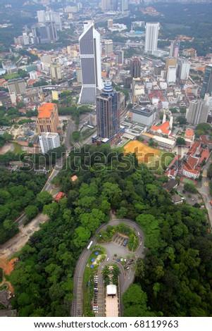 The Kuala Lumpur city skyline - stock photo