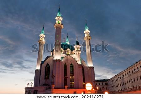 The Kul Sharif Mosque in Kazan Kremlin, Tatarstan, Russia - stock photo
