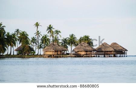 The Kuna Yala comunities in Panama - stock photo