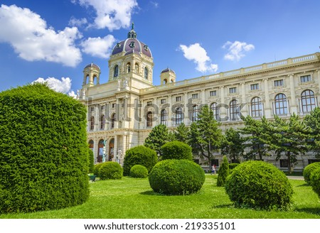 The Kunsthistorisches Museum (Museum of Fine Arts) in Vienna, Austria - stock photo